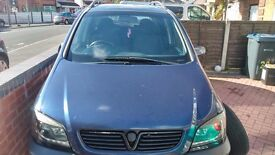 Vauxhall Zafira 1.8, 7 seater, selling as spares or repairs but runs fine. No MOT