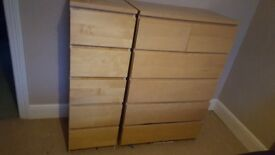 Large chest of drawers and side single set for sale