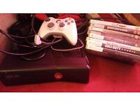 xbox 360 and 8 games