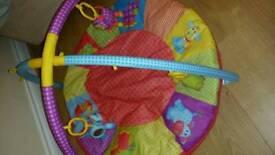 Multi coloured playmat