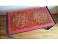 Coffee Table Painted in Chalk Paints Shabby Chic Covered with Ceramic Tiles Very Good Condition