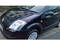 Citroen C2 12months black colour services history cheap on fuel and 57plate cd economical £795