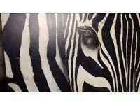Large Zebra Painting