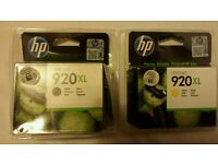 2x Genuine HP Officejet Ink Black and Yellow