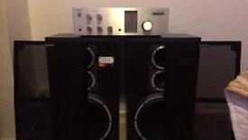 Sony ss g 1 spekers and Sony ta 333 amplifier