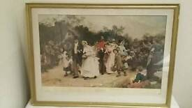 painting print of The Village Wedding by Sir Samuel Luke Fildes