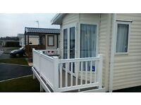 Caravan to rent/hire Mersea Island New luxury 2 bed caravan, Large lounge,king size bed,ensuite.