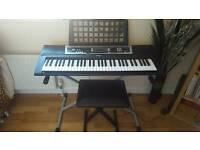 Yamaha keyboard stand and seat