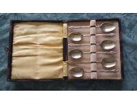 Vintage EPNS tea spoons set in original box