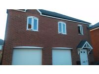Detatched 1 bed with private parking and large garage, to exchange for a 2 bed