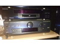 Technics Amp, Kenwood Dvd/Cd player, 3 x Kef surround speakers