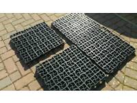 Four grass / turf protector tiles reinforcement drainage