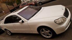 Rare White S500 Long Wheel Base Auto petrol 5litre V8. LOW MILEAGE
