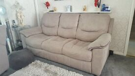 BARGAIN *** 3 Piece Suite, Grey Suede, Less than 12months old, excellent condition £450.00