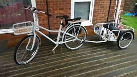 Brand new ex display Ikea Sladda 26 inch bike full options with bicycle trailer