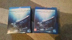 Prometheus to Alien 5 film collection Blu-ray