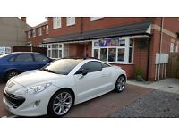 Peugeot RCZ GT HDI in Pearlised White +built-in Sat Navigation