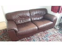 Brown leather sofa £50