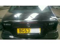 Mercedes c class w203 boot lid in black