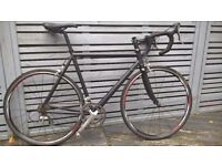 Custom Road bike Carbon Fork, Shimano Ultegra set, SPD, RS20 Wheels, 2x10 speed