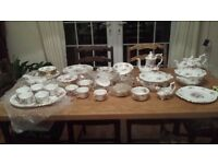 Antique - Hammersley - Howard Sprays full dinner set - 75 pieces pots- excellent condition
