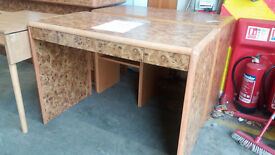 Dressing table with center drawer
