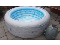 Lay Z Spa Vegas Inflatable Hot Tub with Pump and Complete Kit *SLOW PUNCTURE*