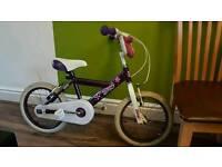 Girl bike purple amd white 16 inch