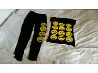 Girl set emoji top leggings bundle clothes