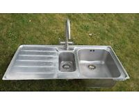 Stainless Steel 1.5 Bowl Franke Sink and Tap