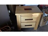 two solid oak side/bed side tables