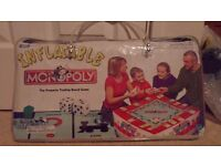 RARE great condition inflatable Monopoly board game in carry case