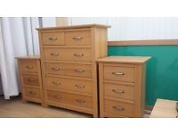 mirrored doors 6 draw chest 2 bedside cabinets