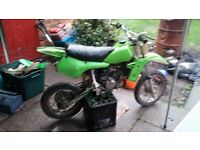 Kx 60 good clean bike swap with cash for pit bike