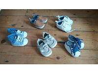 baby boys shoes 0-3 months & 3-6 months, socks & scratch mitts bundle