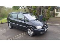 Vauxhall Zafira A model, 1.8 petrol, Exclusive, Automatic, long Mot,