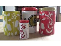 Habitat freda and herbert earthenware storage jars