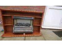 Heater electric, with fire surround