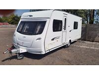 Lunar Lexon 540. Touring Caravan - Used (2012) Fixed Side Bed. 4 Berth
