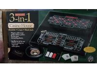 3in1 casino games table top cabinet Rrp £ 89