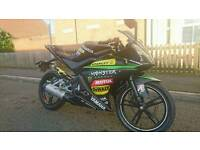 Yamaha yzf r125, custom decals, hpi clear, delivery available.