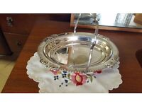 Deep Silver Dish with Handle