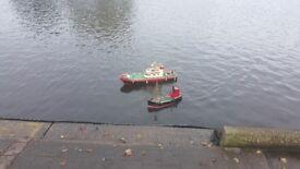 Model fireboat