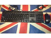 Dell UK USB Keyboard KB1421 & Optical USB Mouse XN966