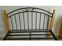 Solid Wood and Metal Double Bed Frame(Good and Sturdy)