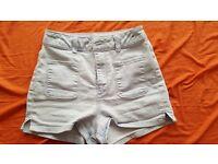 River Island high waisted light denim shorts, size 6, wanting £10