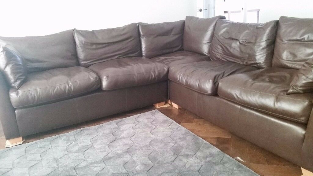 SOFA WORKSHOP Wallis brown leather corner sofa RRP 12 000 when new current model
