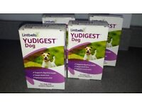 Lintbells YuDigest Supplement for dogs with sensitive tummies.