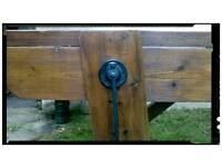 Heavy duty vintage restored work bench