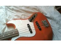 Classic 60's Japanese Made Fender Jazz Bass. W/soft Case